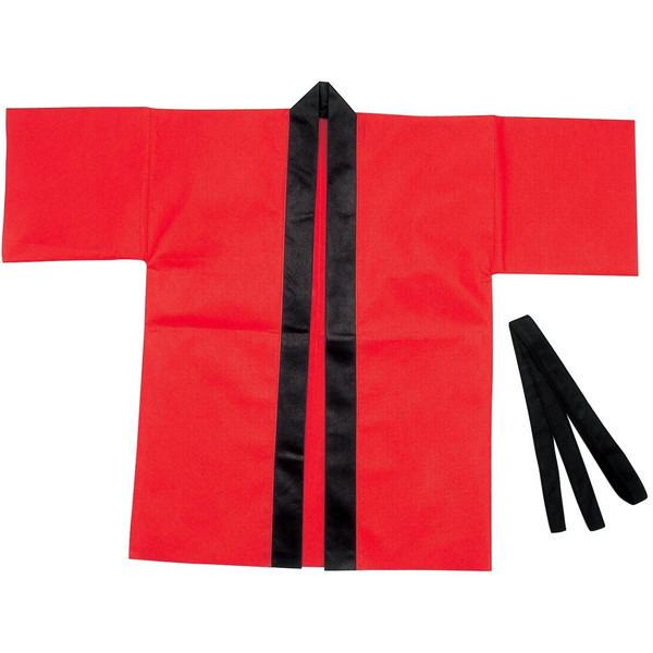 アーテック カラー不織布ハッピ 大人用 L 赤 ハッピ 品番 1360