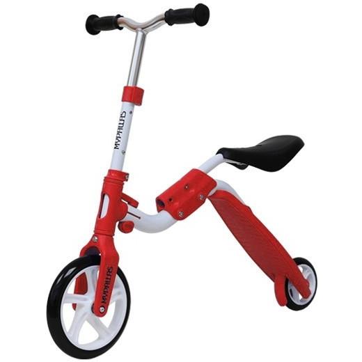 マイパラス MY-2in1-RD レッド [子供用バイクキックボード・・・