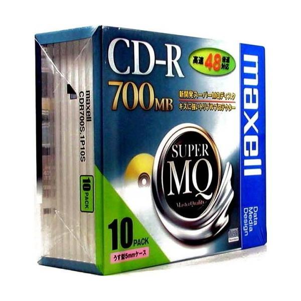 maxell CDR700S.1P10S 1 [データ用 CD-R 700MB 48倍速対応 10枚 5mmケース入 ・・・