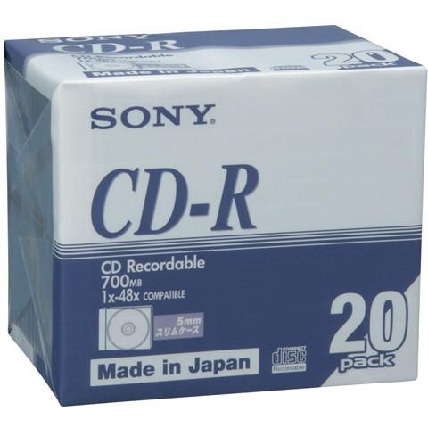 SONY 20CDQ80DNA [データ用CD-R (700MB 48倍速 ブランドシルバー スリムケー・・・