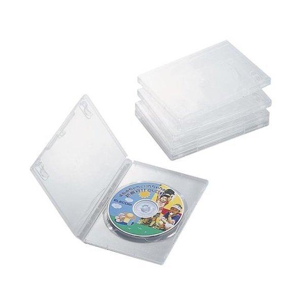 軽くて割れにくいポリプロピレン樹脂製のDVDトールケース5枚セット