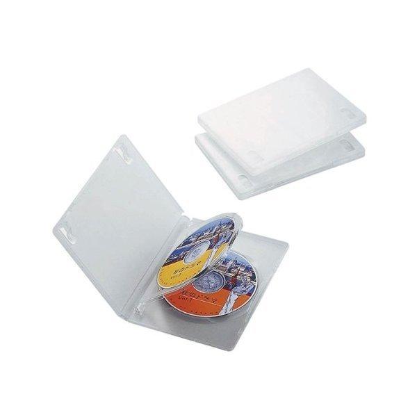 ELECOM DVDトールケース クリア CCD-DVD07CR