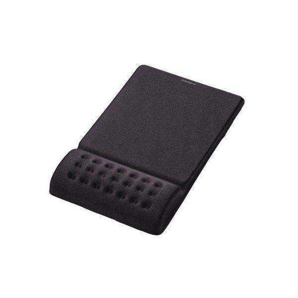 ELECOM MP-095BK ブラック COMFY [疲労軽減リストレスト一体型マウスパッド ・・・