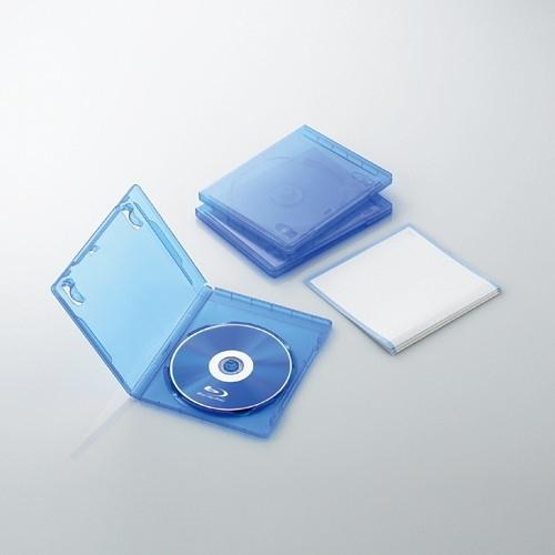 ELECOM CCD-BLU103CBU クリアブルー [Blu-rayディスクケース(1枚収納・3枚セ・・・