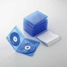 ELECOM CCD-BLU210CBU クリアブルー [Blu-rayディスクケース(2枚収納・10枚セ・・・