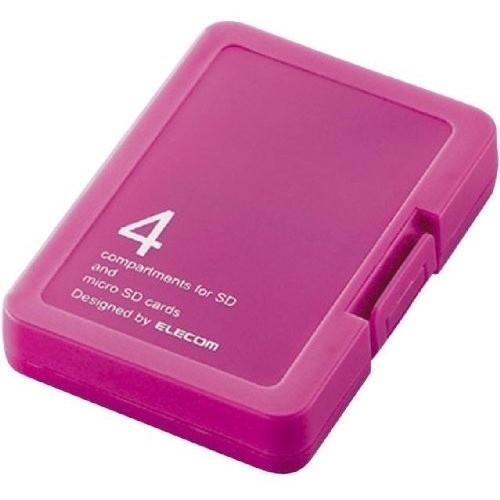 ELECOM CMC-SDCPPPN バタフライピンク [SD/microSDメモリカードケース(4枚収・・・