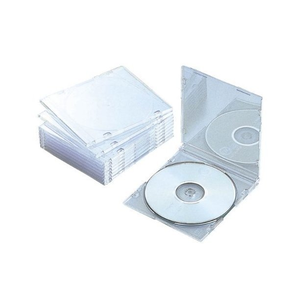 ELECOM CCD-JSCS10CR クリア [Blu-ray/DVD/CDケース 10枚セット(スリム/PS/1・・・