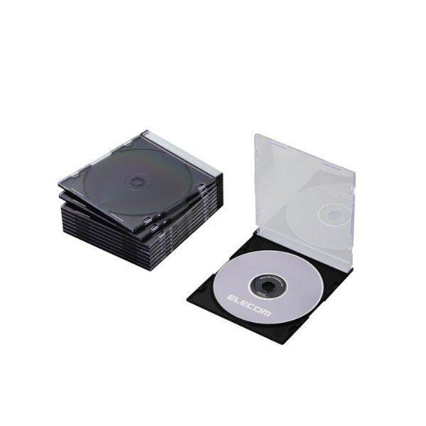 ELECOM CCD-JSCS10BK ブラック [Blu-ray/DVD/CDケース 10枚セット(スリム/PS/・・・