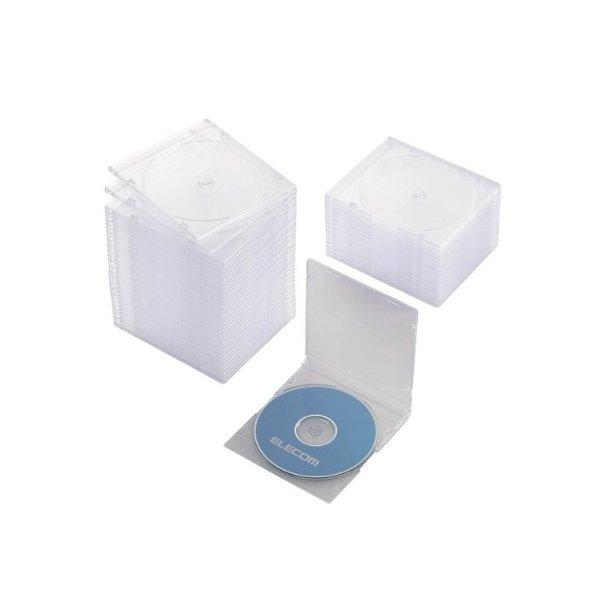 ELECOM CCD-JSCS50CR クリア [Blu-ray/DVD/CDケース 50枚セット(スリム/PS/1・・・