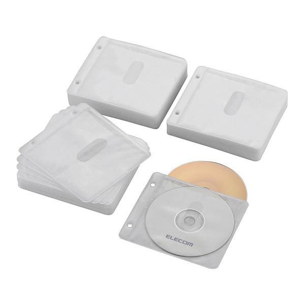 ELECOM CCD-NBWB240WH ホワイト [Blu-ray・CD・DVD対応不織布ケース(240枚) 2・・・