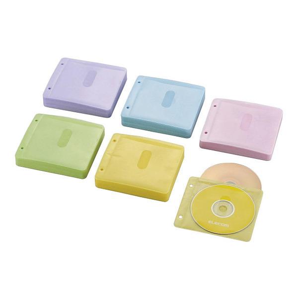 ELECOM CCD-NBWB240ASO アソートカラー [Blu-ray・CD・DVD対応不織布ケース(2・・・