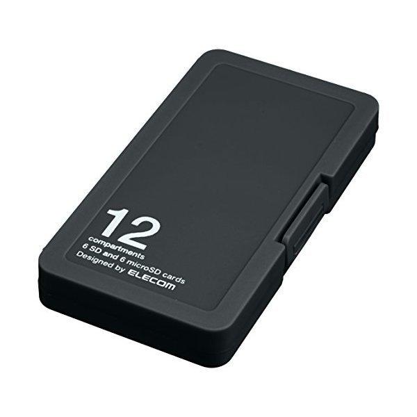 ELECOM CMC-SDCPP12BK ブラック [メモリカードケース/インデックス台紙付き/S・・・