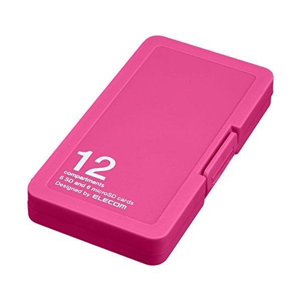 ELECOM CMC-SDCPP12PN ピンク [メモリカードケース/インデックス台紙付き/SD6・・・