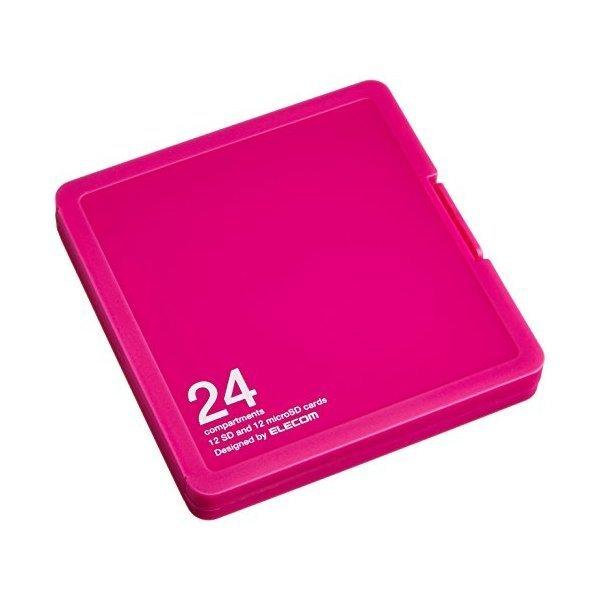 ELECOM CMC-SDCPP24PN ピンク [メモリカードケース/インデックス台紙付き/SD1・・・