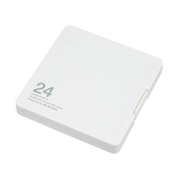 ELECOM CMC-SDCPP24WH ホワイト [メモリカードケース/インデックス台紙付き/S・・・