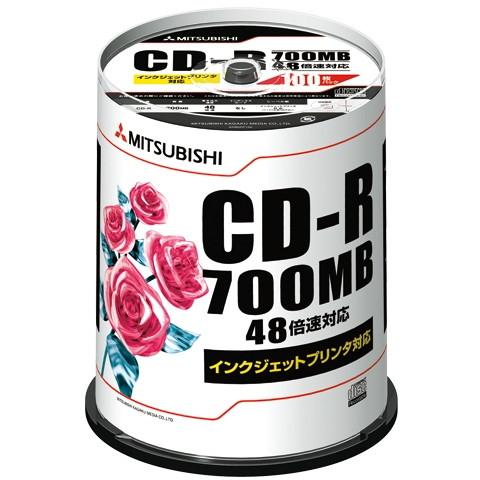 三菱化学メディア 1318-SR80PP100 データ用CD-R 100枚スピンドル