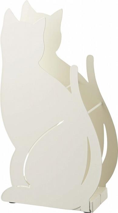 山崎実業(YAMAZAKI) かさたて ネコ ホワイト 02358