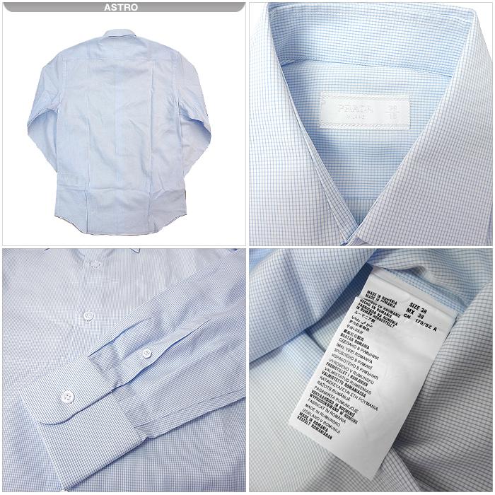 607cc97214f3 ... プラダ PRADA アパレル/Yシャツ UCM669 長袖 Yシャツ COTONE MICRO FA(コットン) ...