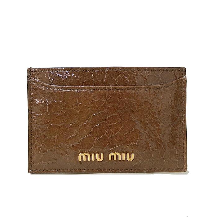 ミュウミュウ miumiu カードケース 5M0208 レザー マチ無しカードケース ST.C・・・