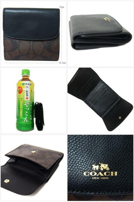 コーチ COACH 財布 F53837 シグネチャー PVC スモール ウォレット(小銭入れ有り) IMAA8(ブラウン×ブラック) f53837-imaa8 商品画像2:SanAlpha(サンアルファ)