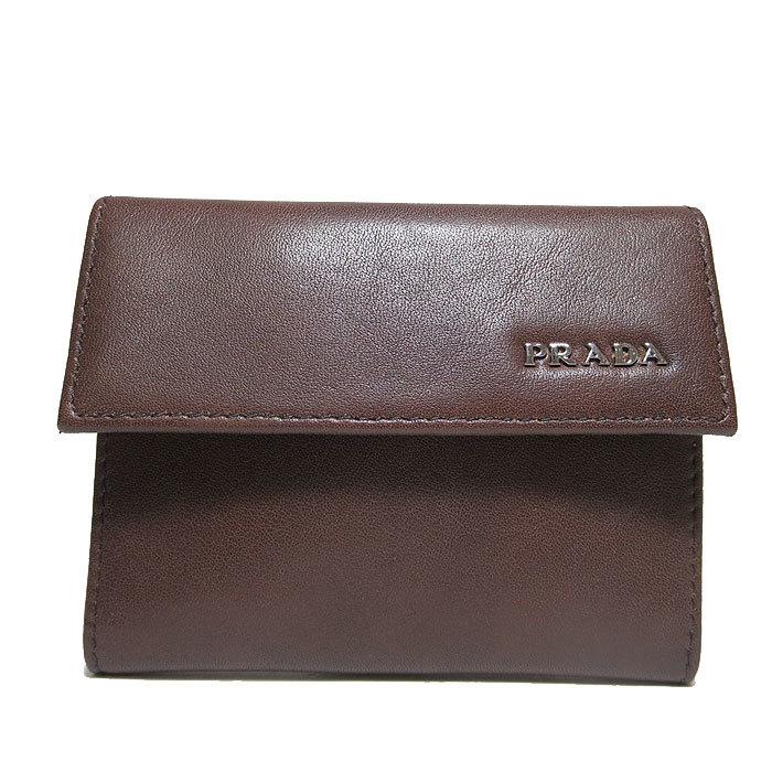 プラダ PRADA カードケース 2M1234 レザー ロゴ 三つ折りカードケース VITELL・・・