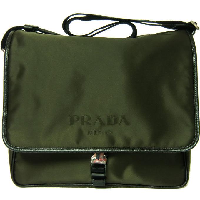 プラダ PRADA ショルダーバッグ 2VD166 ナイロン×サフィアーノ ロゴ 斜め掛・・・