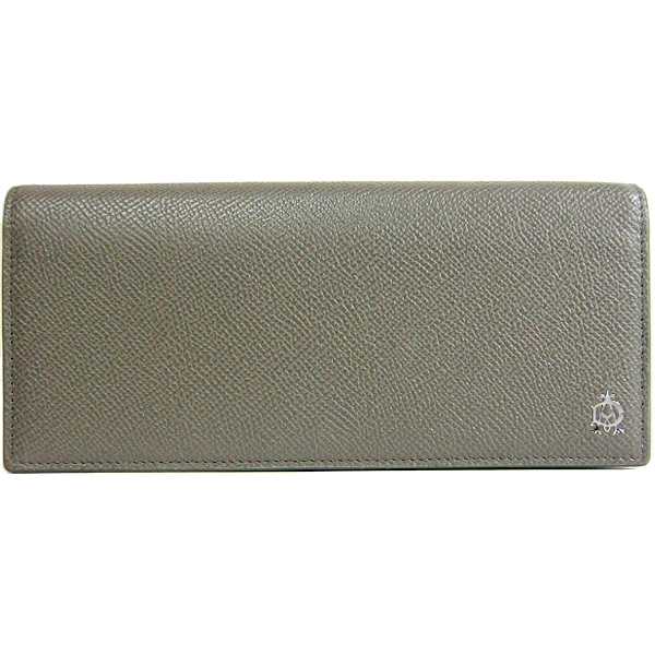 ダンヒル アウトレット Dunhill L2X210Z 型押しレザー 二つ折り長財布:ブラ・・・