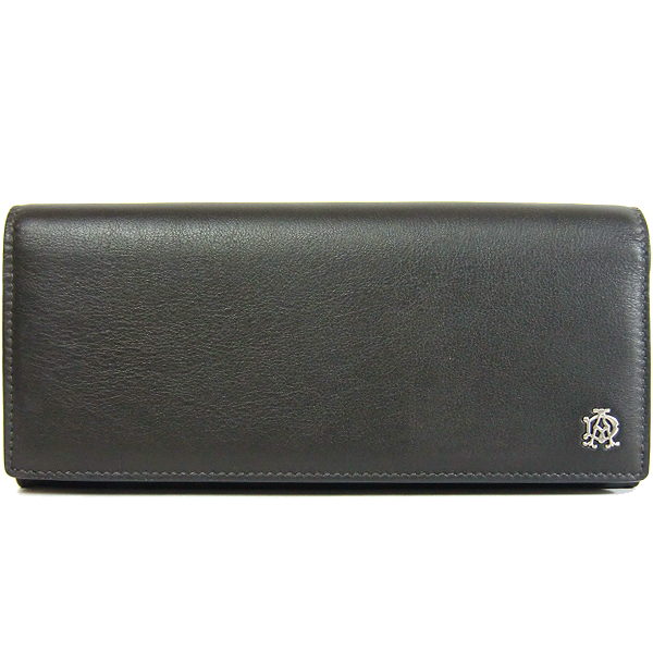 ダンヒル アウトレット Dunhill L2XR10Z レザー 二つ折り長財布:グレー系 l2・・・