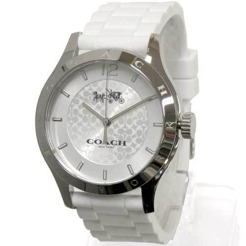 c22a25e6da17 COACH コーチ ボーイフレンド ホワイト ラバー ストラップ ウォッチ レディース / 腕時計 14502218 商品画像1: