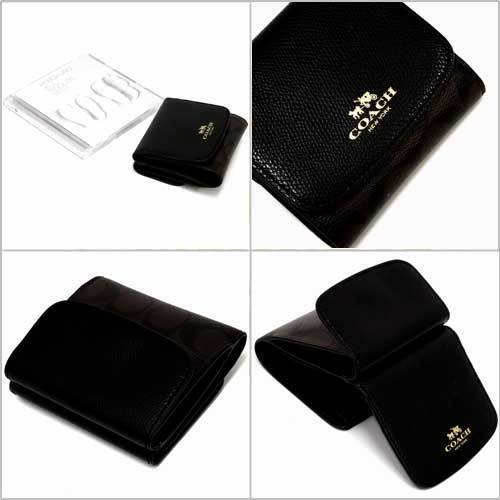 COACH コーチ シグネチャー PVC レザー スモール ウォレット / 二つ折り財布  F53837 IMAA8 商品画像2:セレクトAG