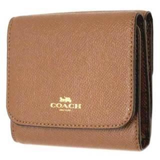 quality design ff089 eb9aa コーチ 財布 COACH クロスグレイン レザー フラップ ウォレット ...