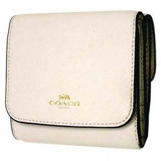 quality design e8b08 d1442 コーチ 財布 COACH クロスグレイン レザー フラップ ウォレット ...