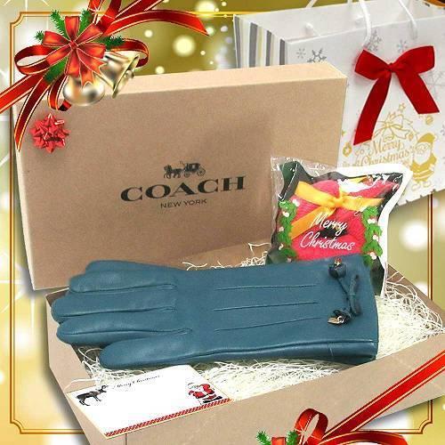 コーチ 手袋 クリスマス ギフトセット COACHコーチ ティー ローズ ボウ レザ・・・
