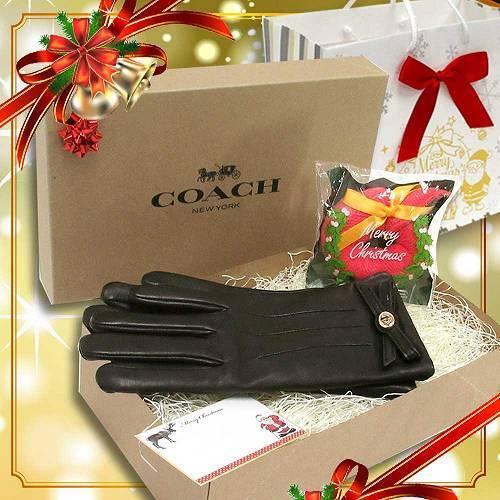 コーチ 手袋 クリスマス ギフトセット COACH レザー レディース  グローブ / ・・・