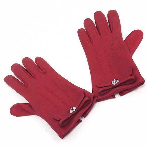 コーチ 手袋 COACHコーチ ターンロック ボウ レザー グローブ / 手袋  F55189・・・