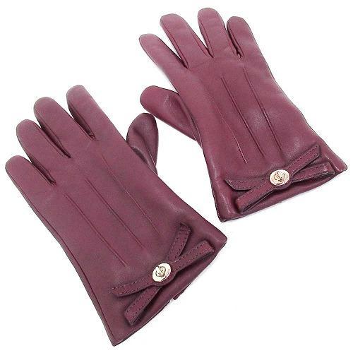 コーチ 手袋 COACHコーチ  ターンロック ボウ レザー グローブ / 手袋  F5518・・・