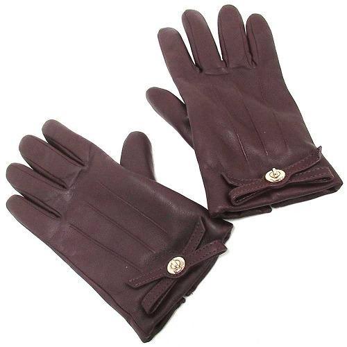 コーチ 手袋 COACHコーチ  ターンロック ボウ バーチ レザー グローブ / 手袋・・・