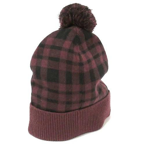 コーチ 帽子 COACH  プラッド チェック ポンポン ニット ハット / ニット帽子・・・