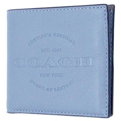 772acab7b158 コーチ 財布 COACH メンズ カーフ レザー ダブルビルフォード ウォレット / 二つ折り財布 F24647 L75
