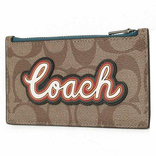 コーチ コインケース COACH  パッチワーク Coach ロゴ メンズ スリム ジップ ・・・
