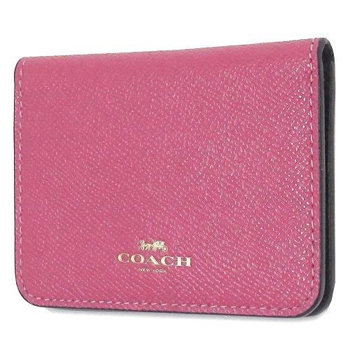 コーチ カードケース COACH  ポップ カラーブロック レザー バイフォールド ・・・