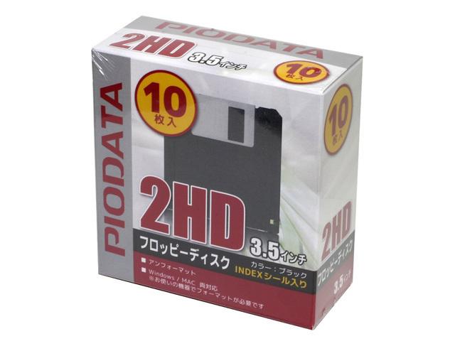 PIODATA 3.5インチ 2HD フロッピーディスク [アンフォーマット 10枚入]