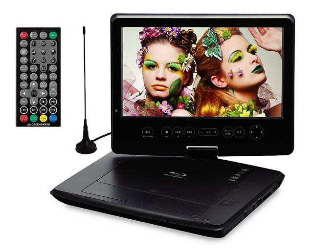 10.1型 テレビも観れる フルセグ対応 ポータブルブルーレイプレーヤー BDプレ・・・