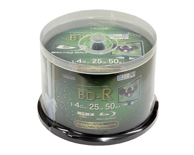 Lazos LR4-50P [BD-R 4倍速 50枚組]