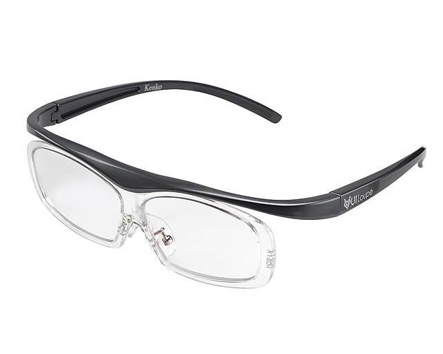 KENKO メガネ型拡大鏡 ユイルーペ 1.6倍 レギュラーサイズ KTL-5101R GR グレ・・・