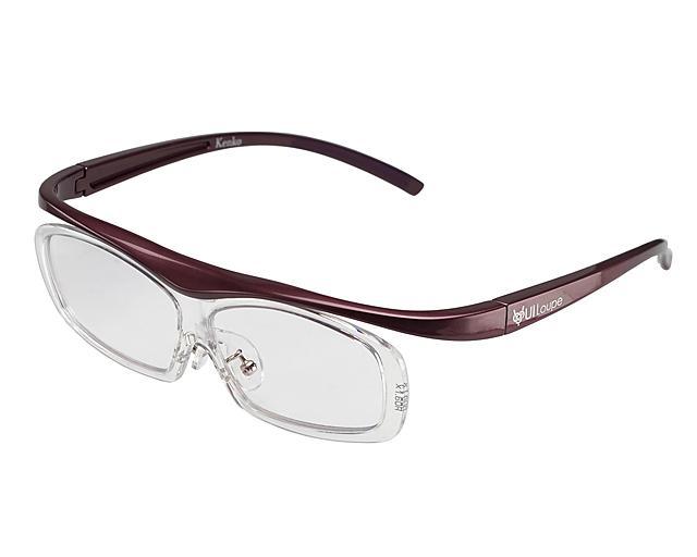 KENKO メガネ型拡大鏡 ユイルーペ 1.6倍 レギュラーサイズ KTL-5102R PR パー・・・