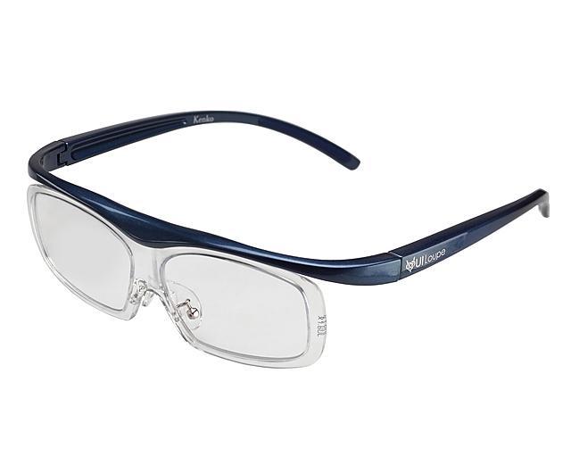 KENKO メガネ型拡大鏡 ユイルーペ 1.6倍 ラージサイズ KTL-5105L BL ブルー  ・・・