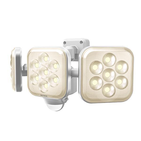 8W×3灯 フリーアーム式 LED センサーライト 電球色 ムサシ RITEX LED-AC3025 [コンセント式]