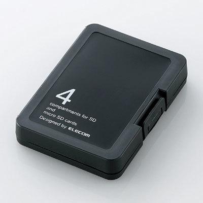 エレコム SDケース プラスチックタイプ /ブラック CMC-SDCPPBK
