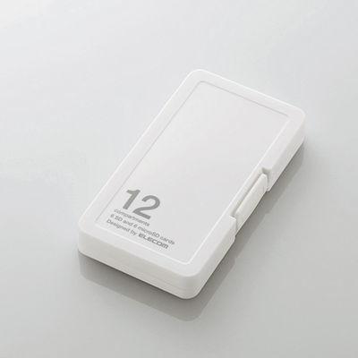 エレコム メモリカードケース/インデックス台紙付き/SD6枚+microSD6枚収納/ホ・・・